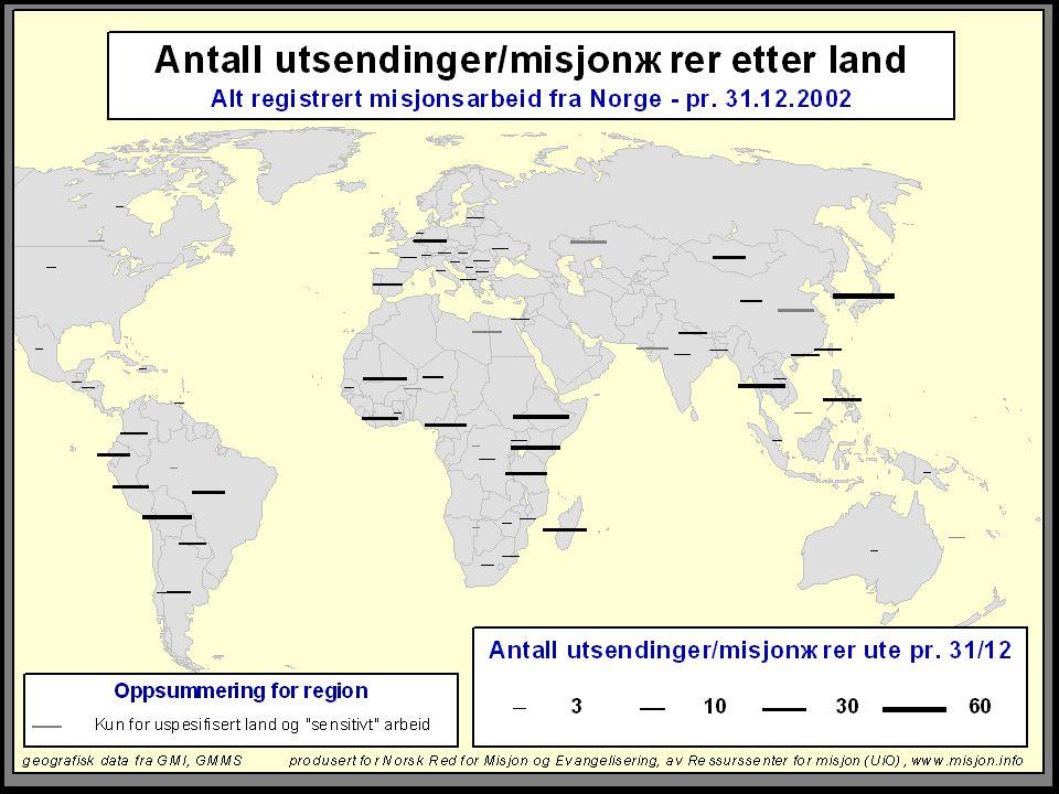 Kart: misjonærer