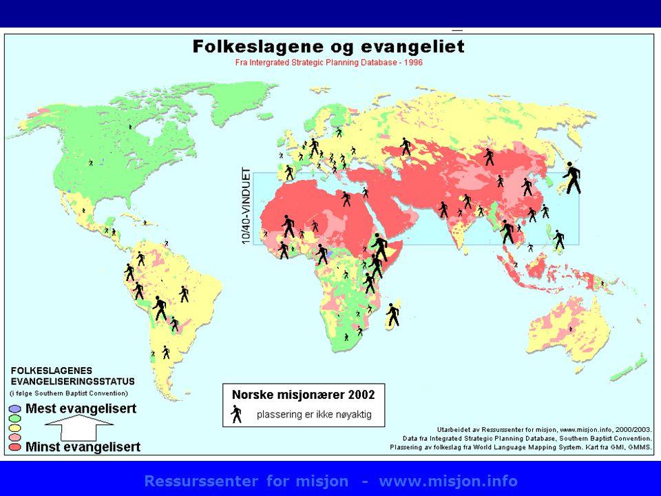 Ressurssenter for misjon - www.misjon.info Kart: misjonærer/SBC