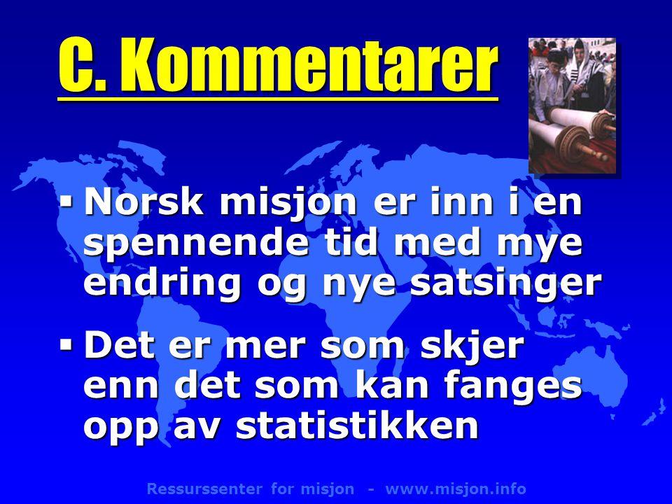 Ressurssenter for misjon - www.misjon.info C.