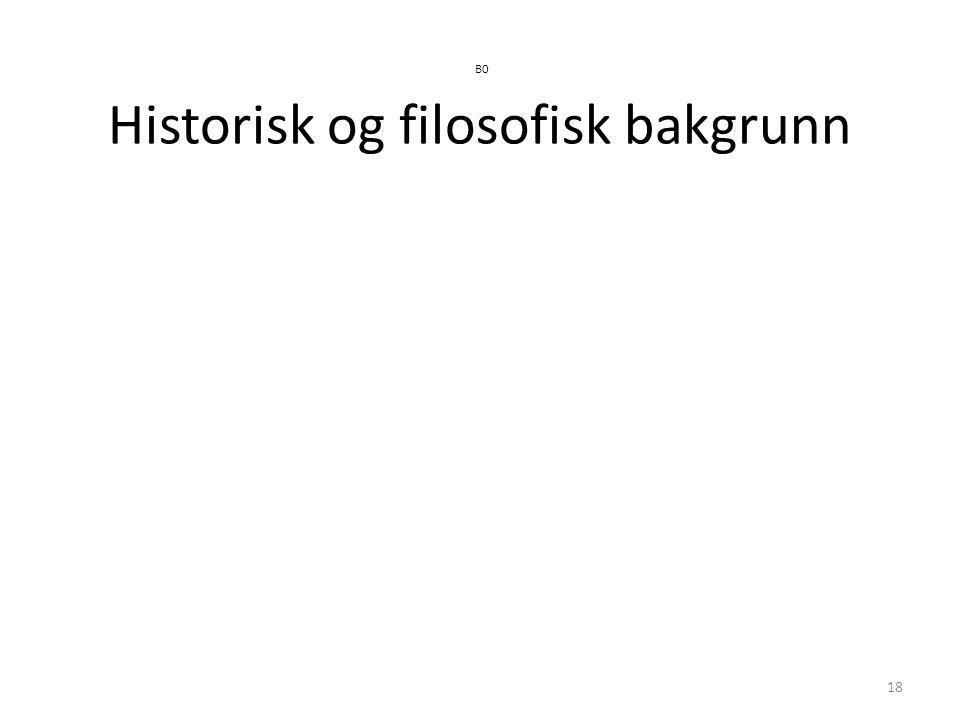 18 B0 Historisk og filosofisk bakgrunn