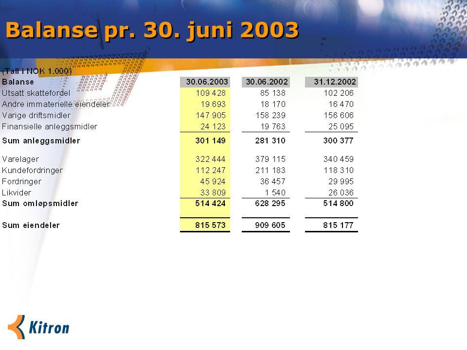 Balanse pr. 30. juni 2003