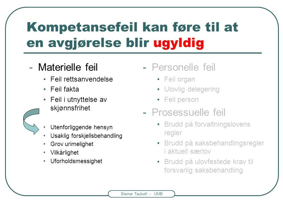 Steinar Taubøll - JUS201 UMB Legalitetsprinsippet: Vedtak eller faktiske handlinger.