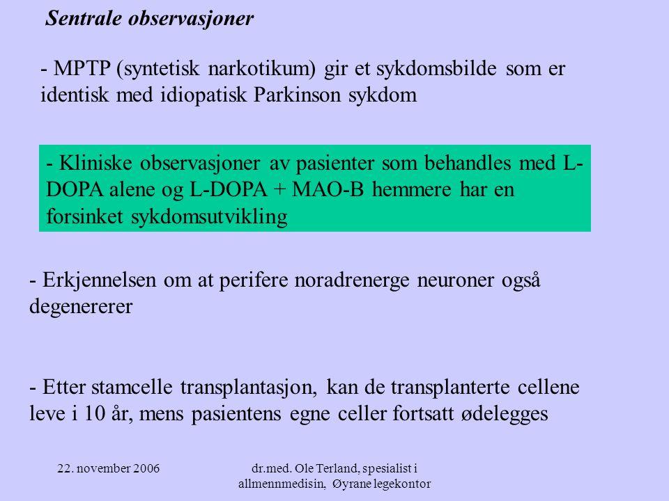 22. november 2006dr.med. Ole Terland, spesialist i allmennmedisin, Øyrane legekontor Respons på skadelige effekter på celler - Lavgradig skadepåvirkni