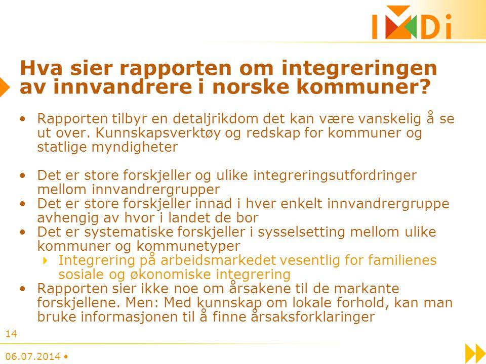 Hva sier rapporten om integreringen av innvandrere i norske kommuner? Rapporten tilbyr en detaljrikdom det kan være vanskelig å se ut over. Kunnskapsv