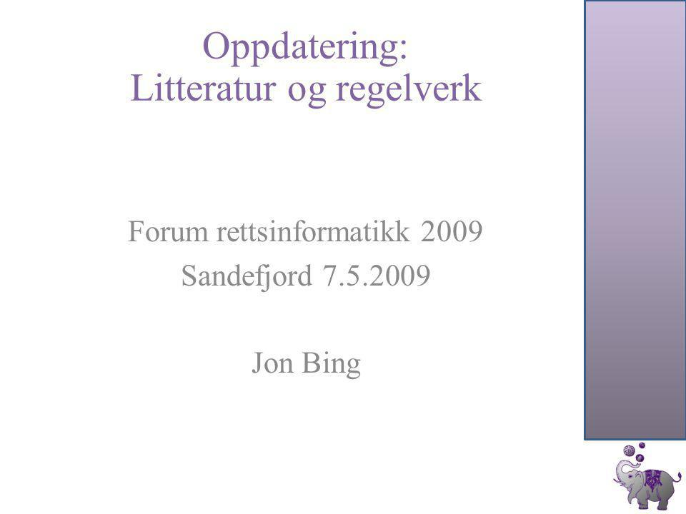 CompLex 2008 Ingvild Jørgensen Internet search engines' collection and processing of web pages Maryke Silalahi Nuth Electronic Contracting in Europe Ole Christian Rynning Juristopia: Semnatic web for legal information