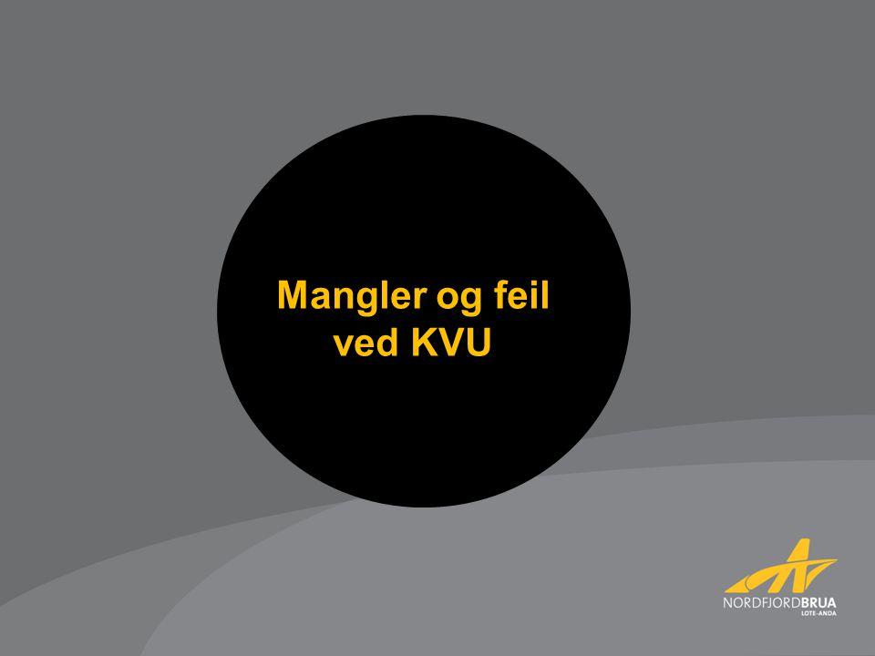 Mangler og feil ved KVU