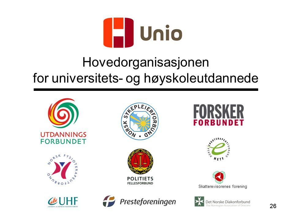 26 Hovedorganisasjonen for universitets- og høyskoleutdannede Skatterevisorenes forening