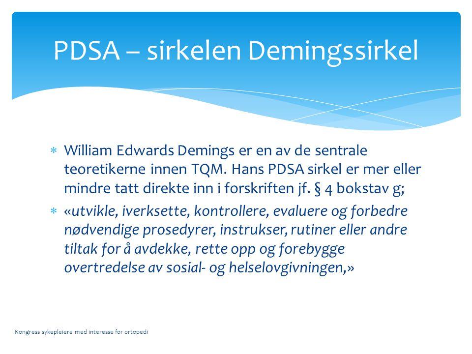  William Edwards Demings er en av de sentrale teoretikerne innen TQM.