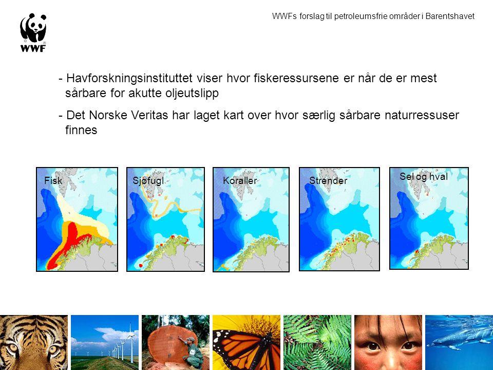 - Havforskningsinstituttet viser hvor fiskeressursene er når de er mest sårbare for akutte oljeutslipp - Det Norske Veritas har laget kart over hvor s
