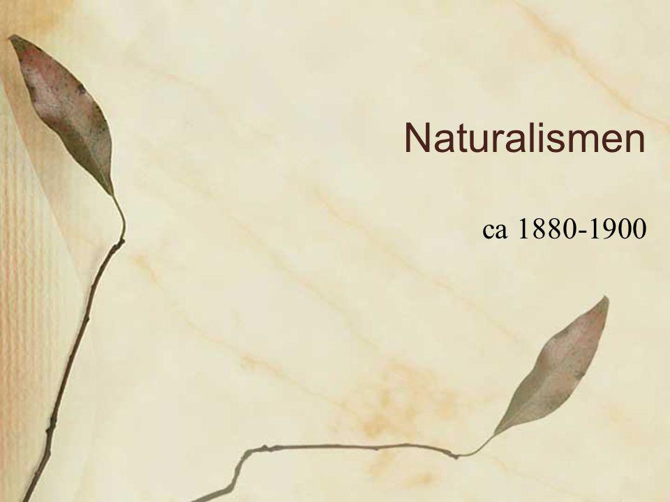 Naturalismen ca 1880-1900