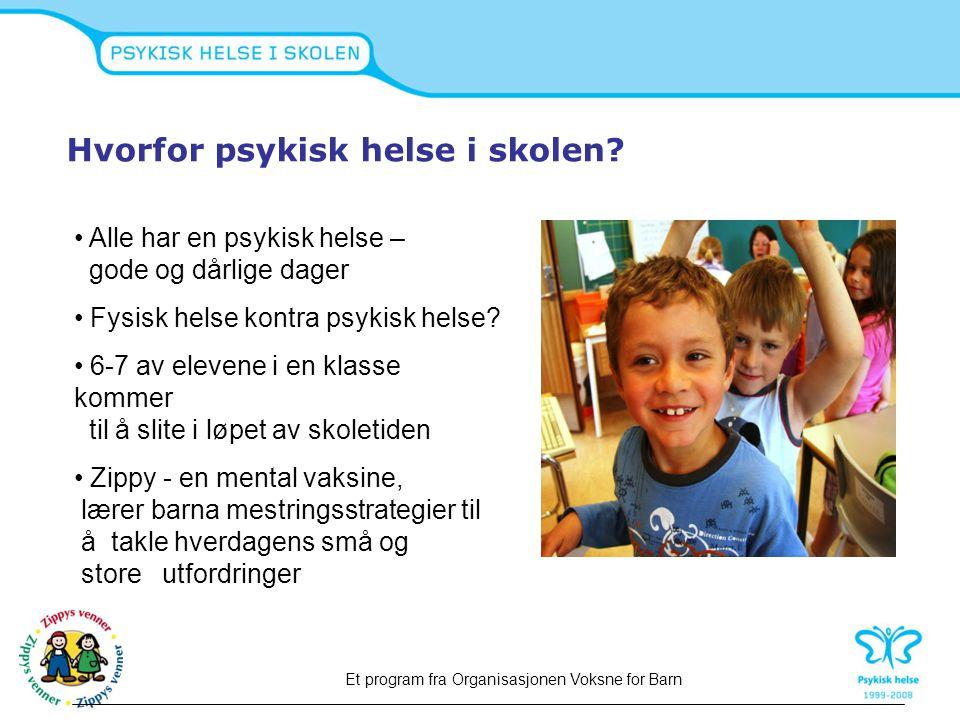 6 MODULER 24 timer  Følelser  Kommunikasjon  Vennskap  Å takle konflikter  Forandring og tap  Mestring Et program fra Organisasjonen Voksne for Barn