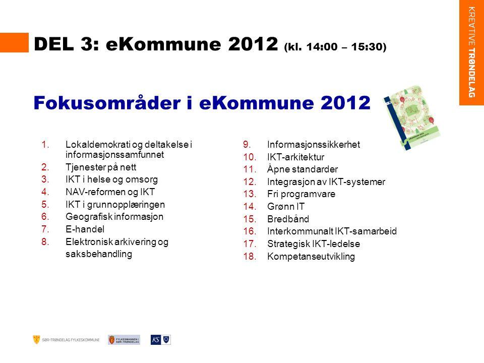 DEL 3: eKommune 2012 (kl.