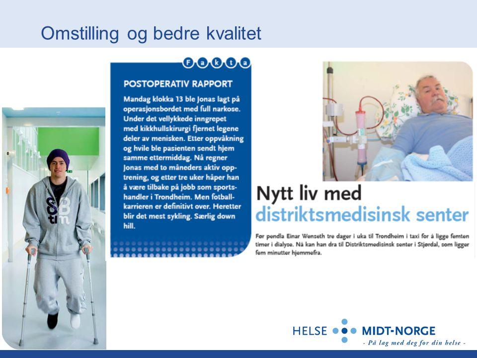 Korridorpasienter i helse Midt-Norge fra 2006-2009 per sept-09