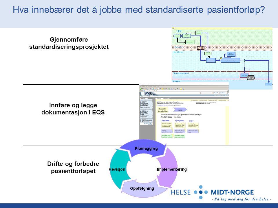 Hva innebærer det å jobbe med standardiserte pasientforløp.