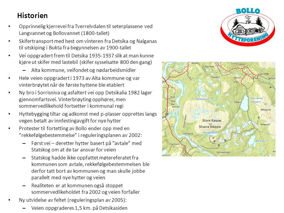 Historien Opprinnelig kjerrevei fra Tverrelvdalen til seterplassene ved Langvannet og Bollovannet (1800-tallet) Skifertransport med hest om vinteren f