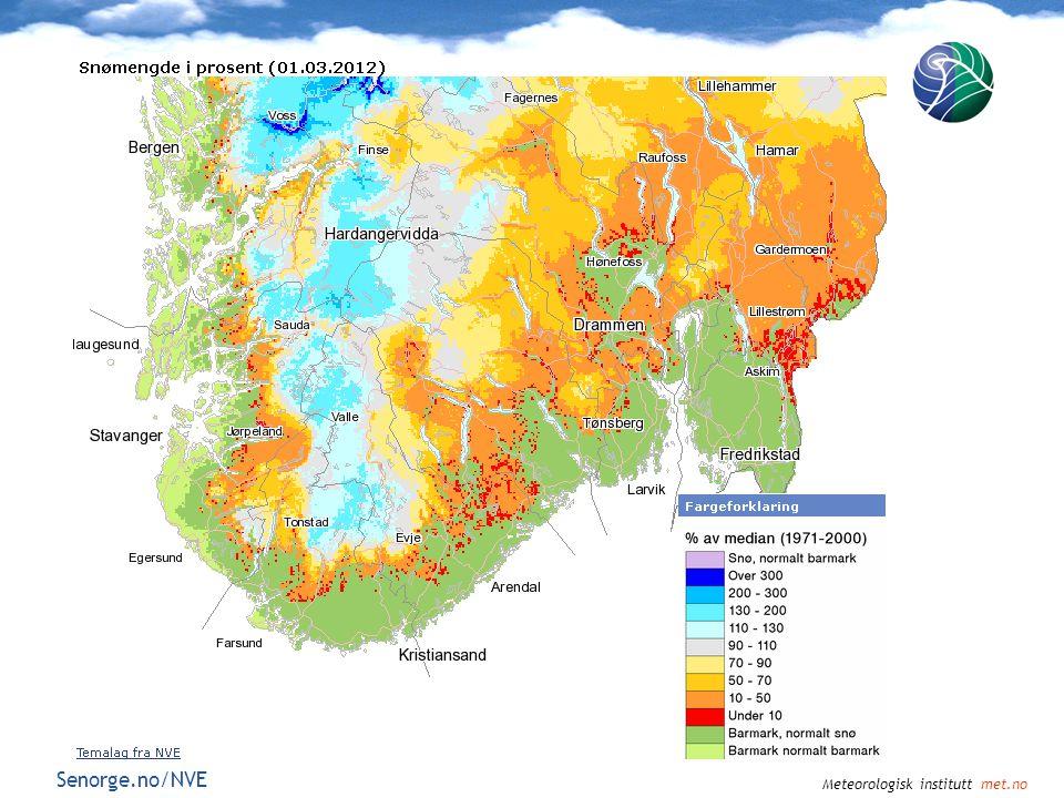 Meteorologisk institutt met.no Senorge.no/NVE