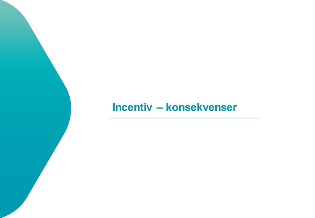 Incentiv – konsekvenser
