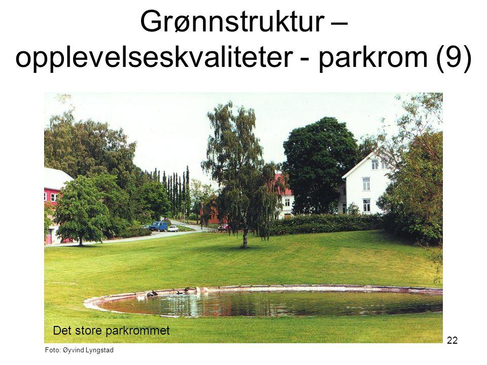 22 Det store parkrommet Foto: Øyvind Lyngstad Grønnstruktur – opplevelseskvaliteter - parkrom (9)