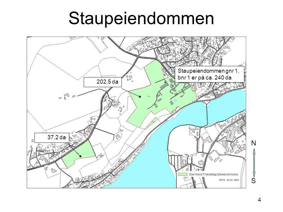 15 Bilde: Hjemmeside - Levanger kommune Grønnstruktur – opplevelseskvaliteter (1) Staup er en del av en større og sammenhengende grønnstruktur på Nesset som strekker seg fra Staupshaugen i nordvest til Julsborg i sydvest StaupStaupshaugenJulsborg S N