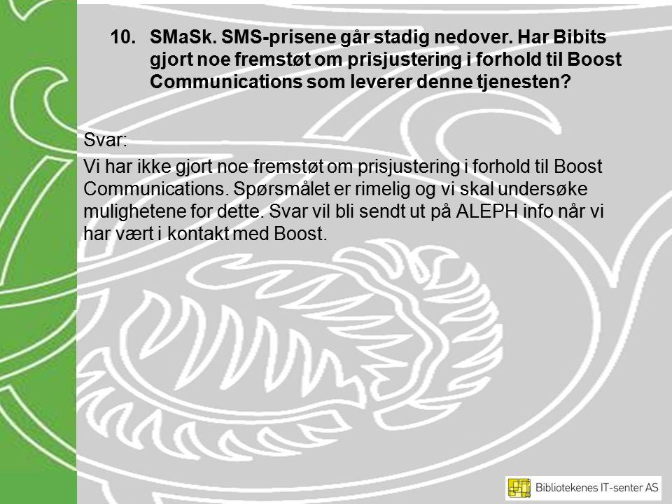 10.SMaSk. SMS-prisene går stadig nedover.