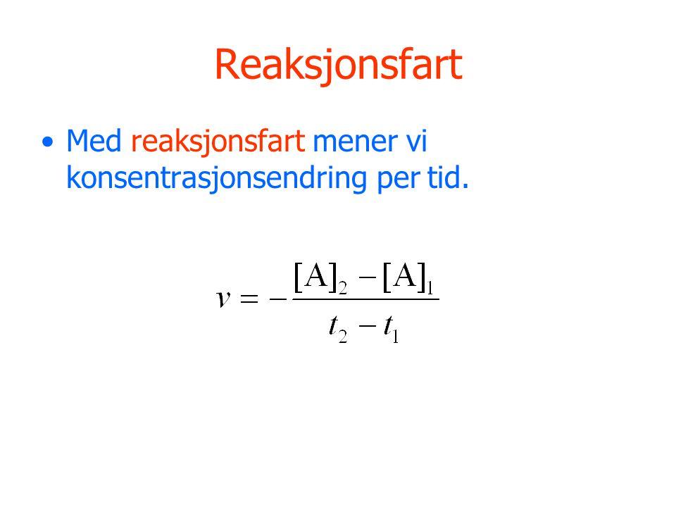 Kollisjonsteorien En reaksjon skjer i følge kollisjonsteorien slik: 1) Molekylene må støte sammen.