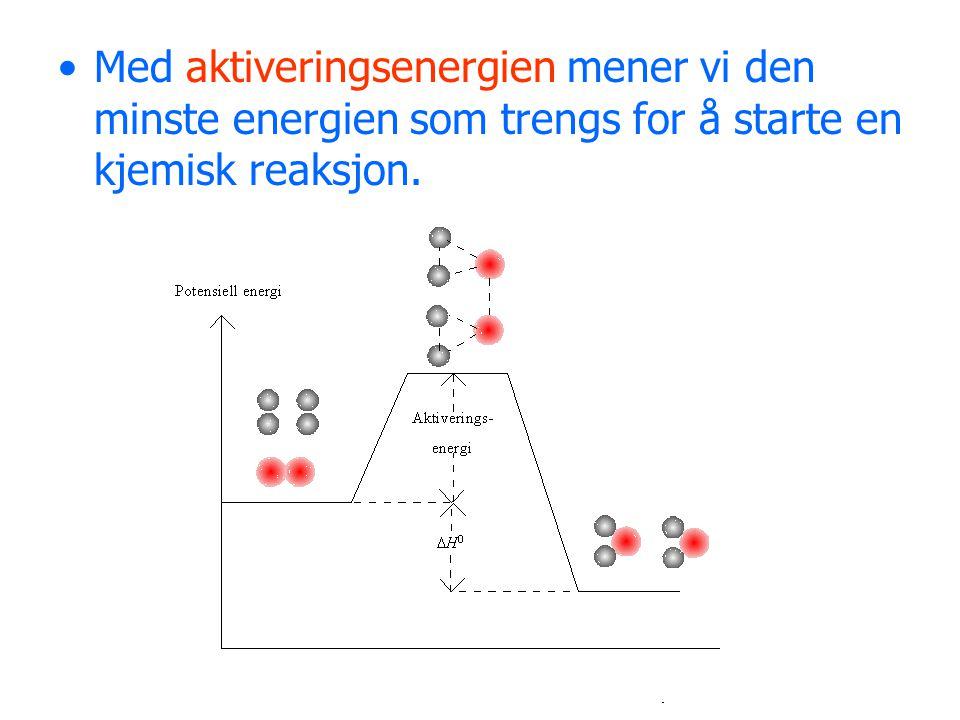 Reaksjonsfarten avhenger av tre faktorer: 1) Konsentrasjonen 2) Temperaturen 3) Bruk av katalysator
