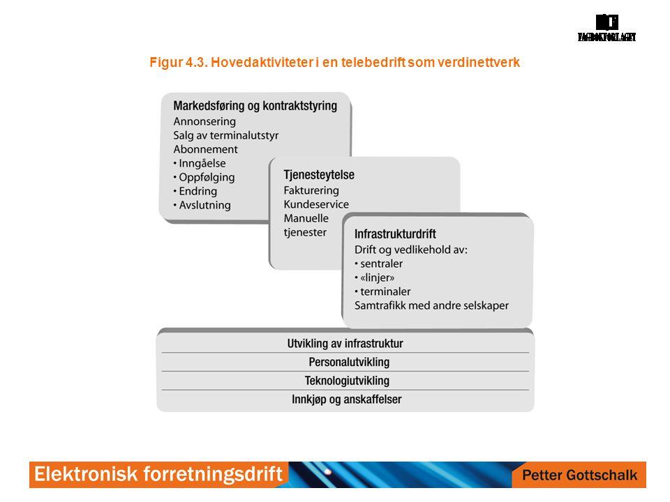Figur 4.3. Hovedaktiviteter i en telebedrift som verdinettverk