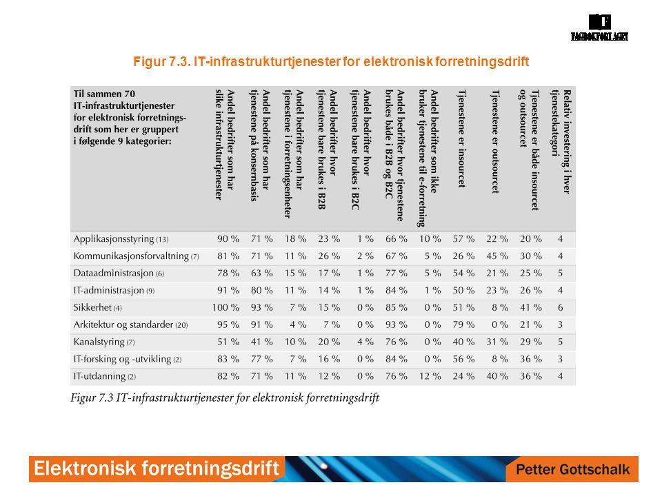 Figur 7.3. IT-infrastrukturtjenester for elektronisk forretningsdrift