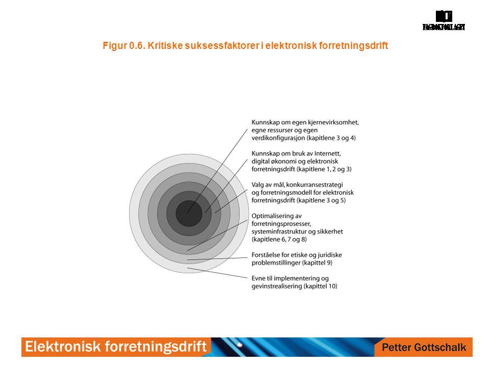 Figur 0.6. Kritiske suksessfaktorer i elektronisk forretningsdrift