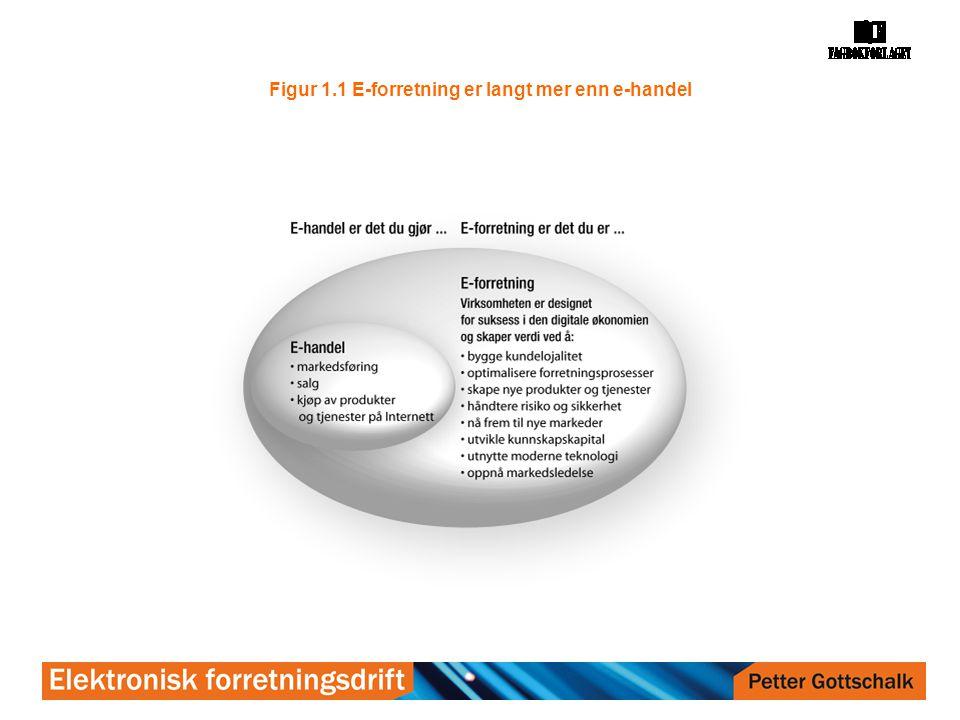 Figur 1.1 E-forretning er langt mer enn e-handel