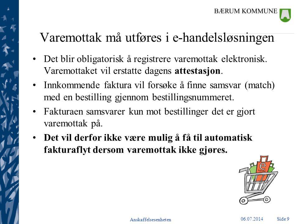 Anskaffelsesenheten Side 1006.07.2014 Kontostreng Bærum kommune Hvorfor har vi en kontostreng?