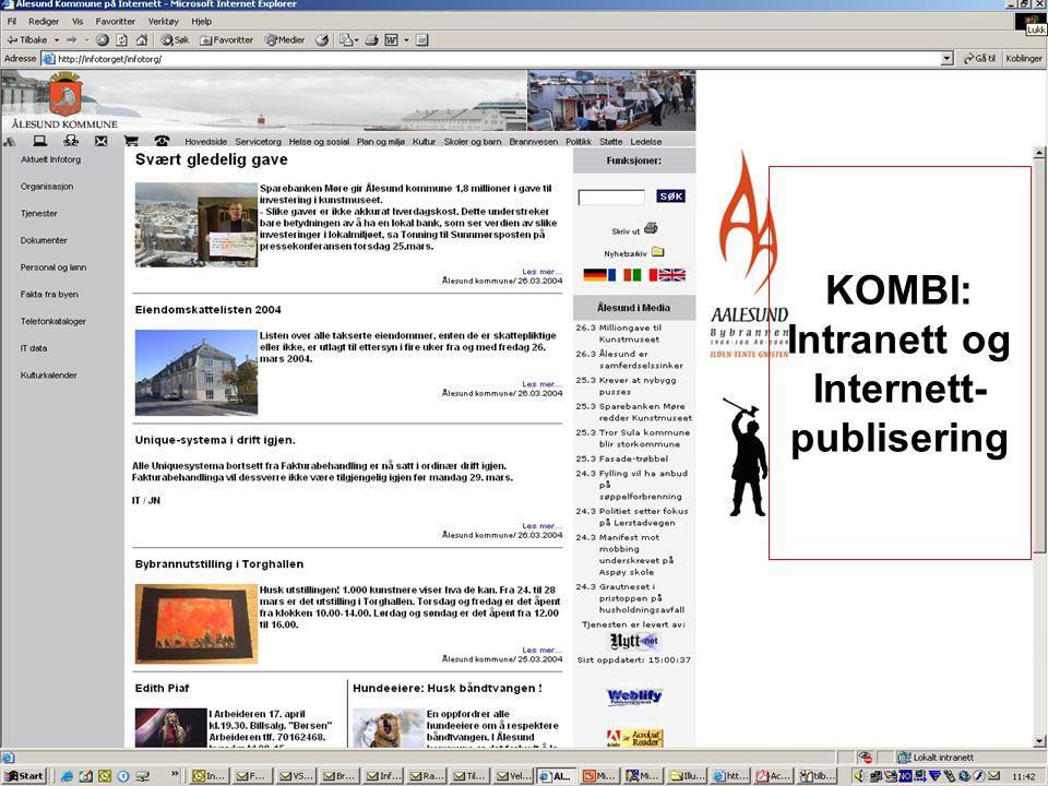 KOMBI: Intranett og Internett- publisering