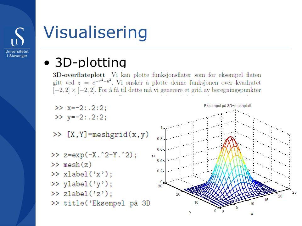 Visualisering 3D-plotting
