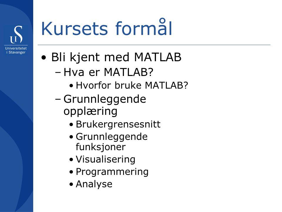 Hva er MATLAB.Hvorfor bruke MATLAB.