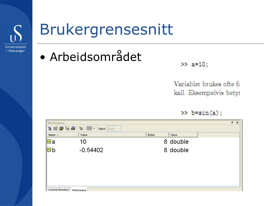 Brukergrensesnitt Editor