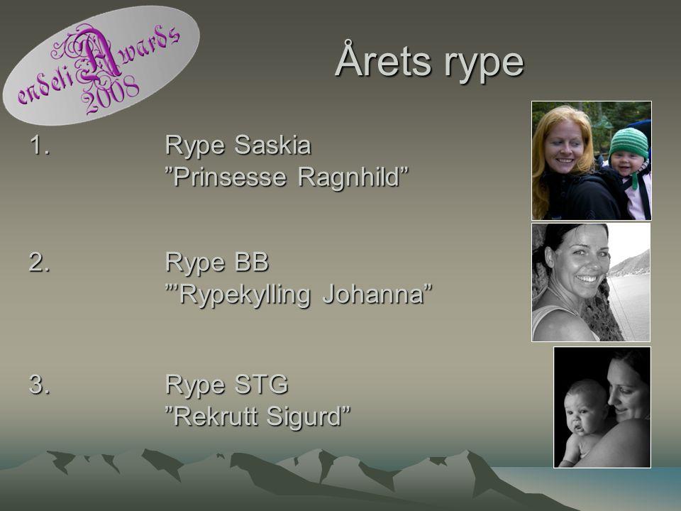 """Årets rype 1. Rype Saskia """"Prinsesse Ragnhild"""" 2. Rype BB """"'Rypekylling Johanna"""" 3. Rype STG """"Rekrutt Sigurd"""""""