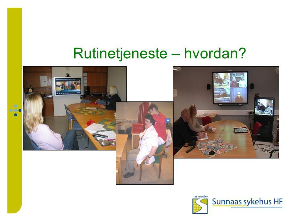 Hovedprosjekt - behov Bruk av VK for intervju av pasient i forkant av gruppeopphold og ved utskrivning av pasienter .