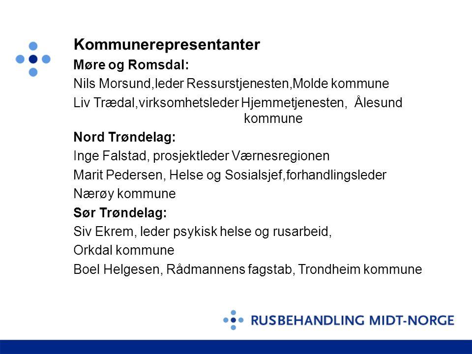 Kommunerepresentanter Møre og Romsdal: Nils Morsund,leder Ressurstjenesten,Molde kommune Liv Trædal,virksomhetsleder Hjemmetjenesten, Ålesund kommune