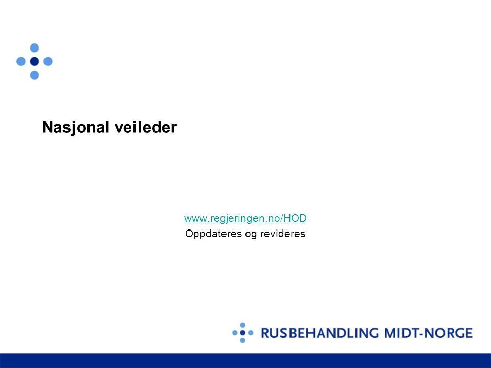Nasjonal veileder www.regjeringen.no/HOD Oppdateres og revideres