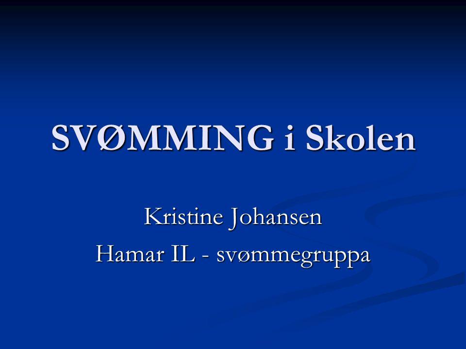 SVØMMING i Skolen Kristine Johansen Hamar IL - svømmegruppa
