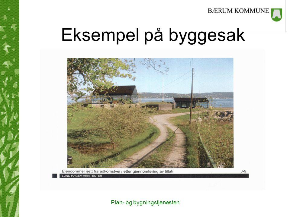 Plan- og bygningstjenesten Eksempel på byggesak Mangelbrevet: