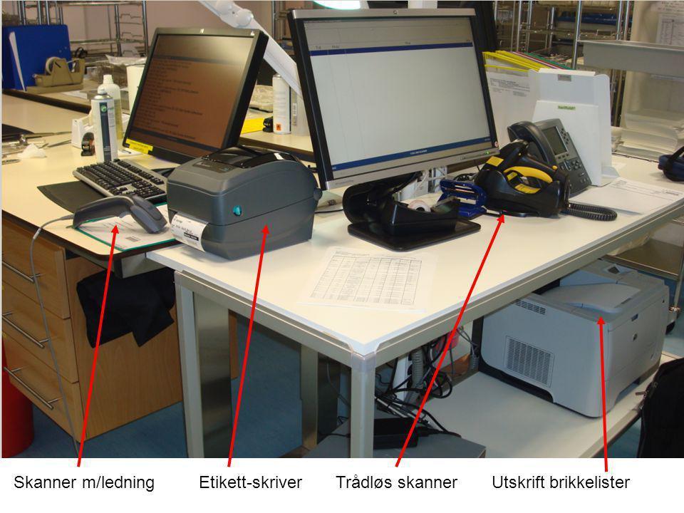 Brikkeliste T-DOC enhetsetikett T-DOC brikke-etikett Kontainer med brikkeliste, T-DOC enhetsetikett og T-DOC brikke-etikett.