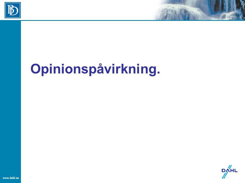 www.dahl.no Opinionspåvirkning.