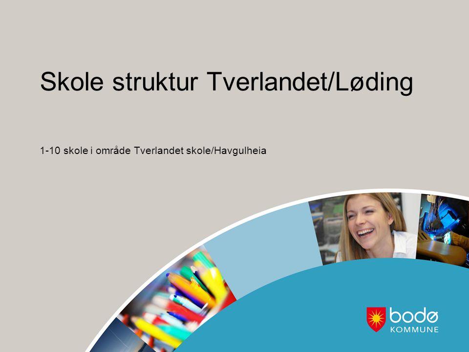 Skole struktur Tverlandet/Løding 1-10 skole i område Tverlandet skole/Havgulheia