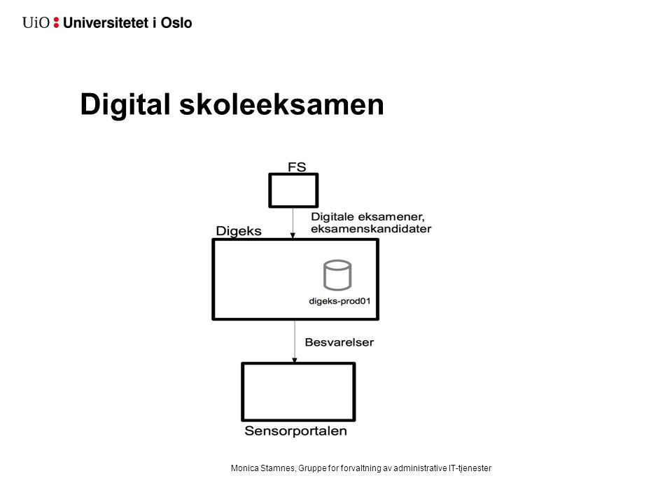 Digital skoleeksamen Monica Stamnes, Gruppe for forvaltning av administrative IT-tjenester