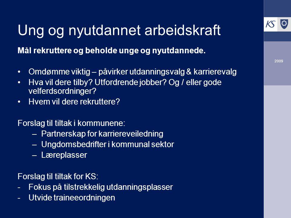 Ung og nyutdannet arbeidskraft Mål rekruttere og beholde unge og nyutdannede.