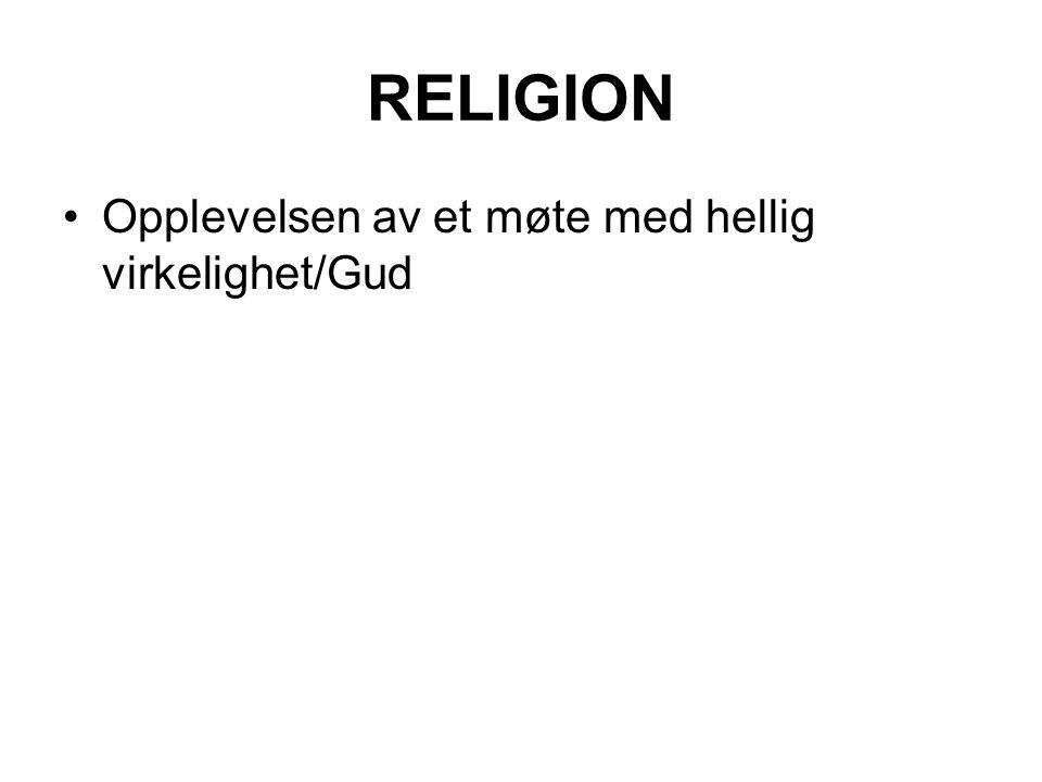 RELIGION Opplevelsen av et møte med hellig virkelighet/Gud
