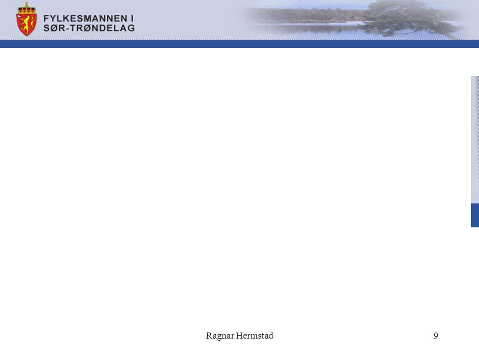 Tilsyn med folkehelsearbeidet i kommunene Pilottilsyn som gjennomføres i 3 ulike fylker i 2013 Planlegges som landsomfattende tilsyn i 2014 Vil bli gjennomført seinhøsten -13 i 3 Sør- Trønderske kommuner Vil bli ført tilsyn med: –§ 5 : Oversikt over helsetilstand og påvirkningsfaktorer i kommunen –§ 27: Samfunnsmedisinske kompetanse Ragnar Hermstad10