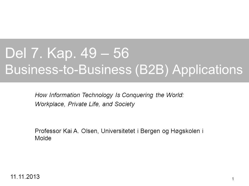 Kai A.Olsen, 06.07.2014 2 B2B Kan vi bruke B2C istedenfor B2B.