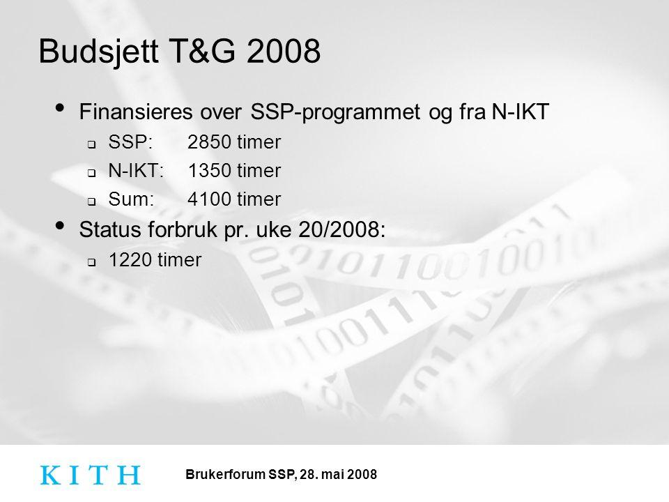 Brukerforum SSP, 28.